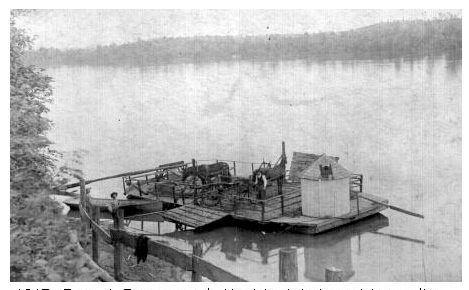 Old Eggners Ferry crossing the Tennessee River near Aurora.