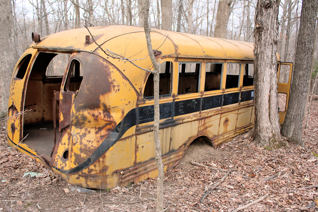 Old School Bus in Land Between The Lakes